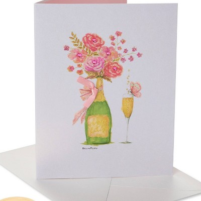 Champagne Floral Print Card - PAPYRUS