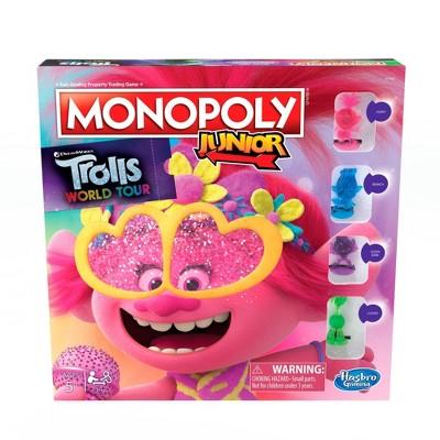 Monopoly Junior Game: DreamWorks Trolls World Tour Edition