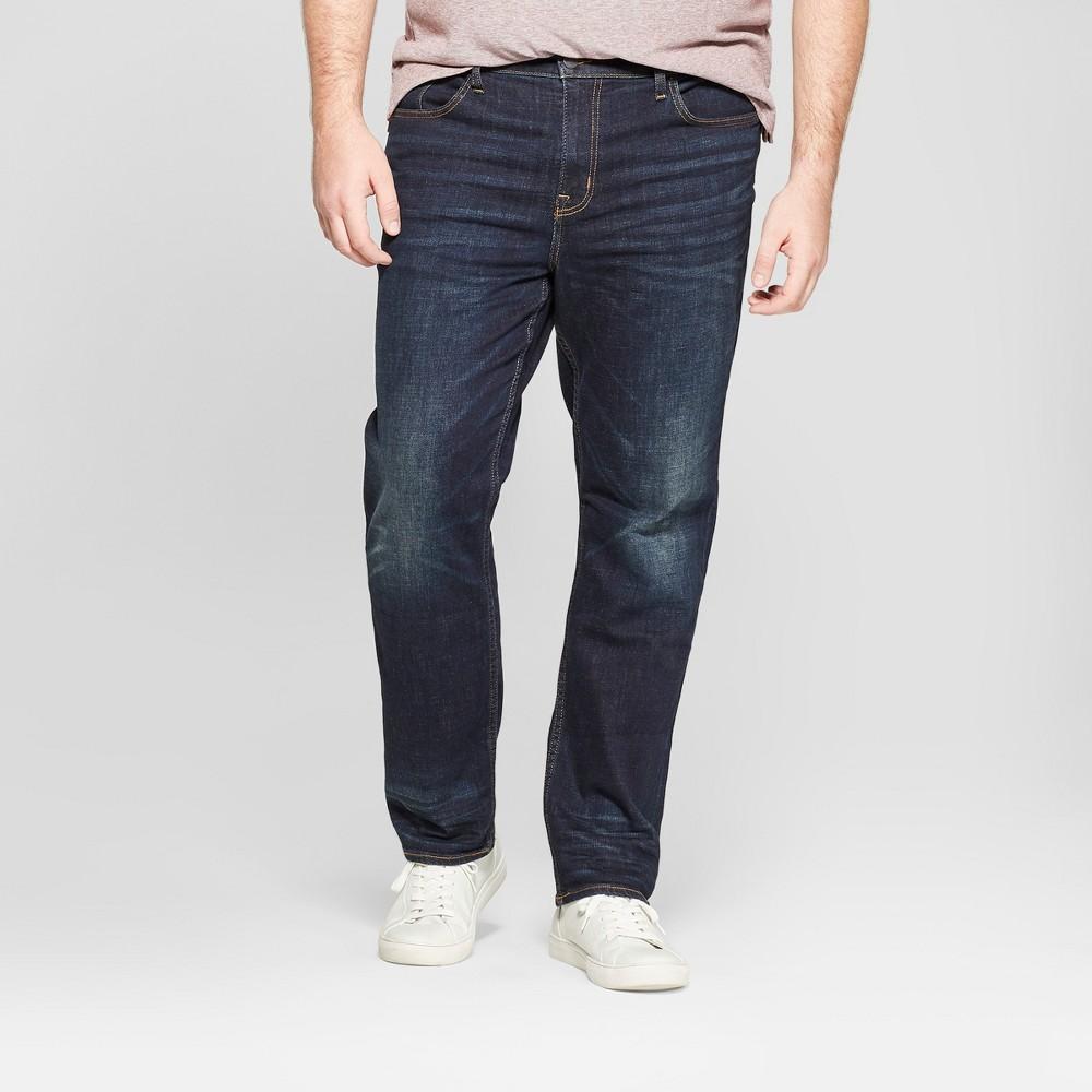 Men's Tall Slim Straight Fit Jeans - Goodfellow & Co Dark Wash 40x36, Blue
