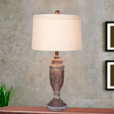 Genial Distressed Formal Resin Table Lamps In Cottage Antique Brown (Lamp Only)    Fangio Lighting