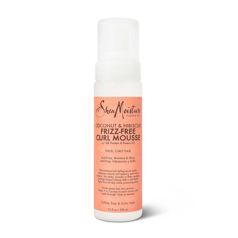 SheaMoisture Curl Mousse for Frizz Control Coconut and Hibiscus - 7.5 fl oz - image 1 of 4