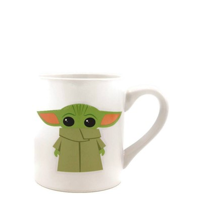 Star Wars Mandalorian 14oz Ceramic Baby Yoda Mug - Silver Buffalo