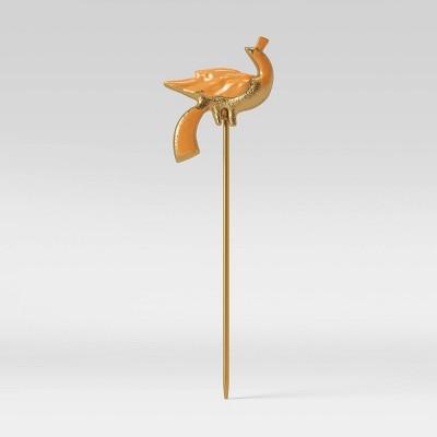 Iron and Aluminum Bird Pot Stake Orange - Opalhouse™