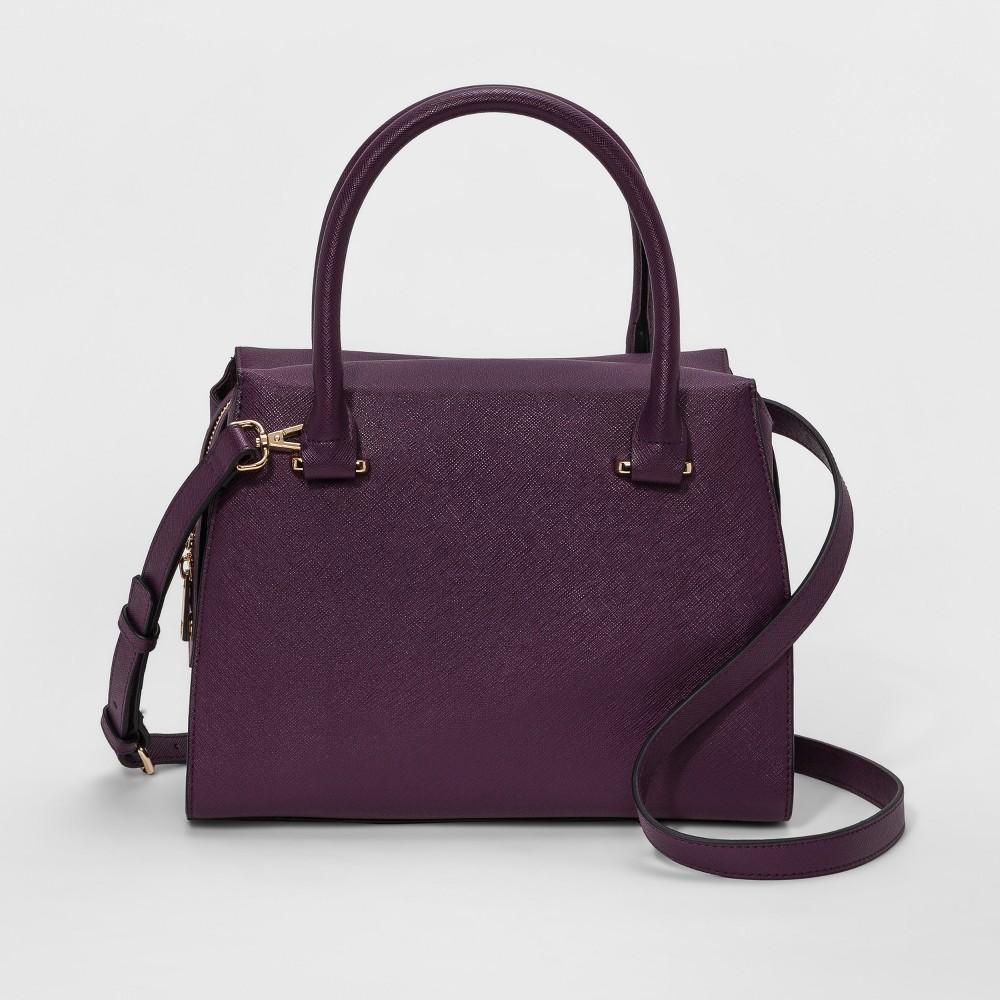 Printed Saffiano Satchel Handbag - A New Day Sweet Plum, Women's