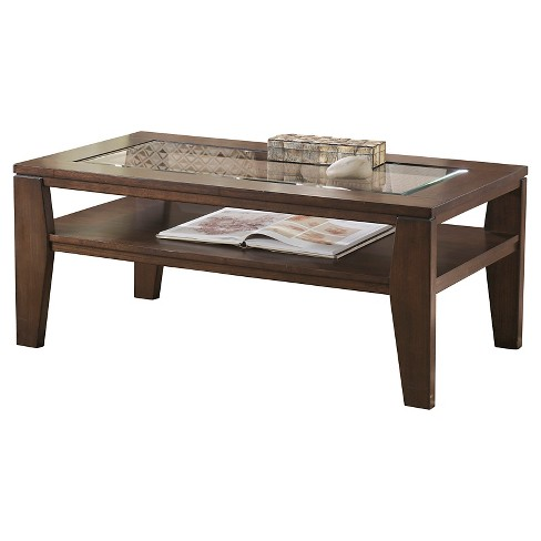Deagan Rectangular Cocktail Table - Dark Brown  - Signature Design by Ashley - image 1 of 4