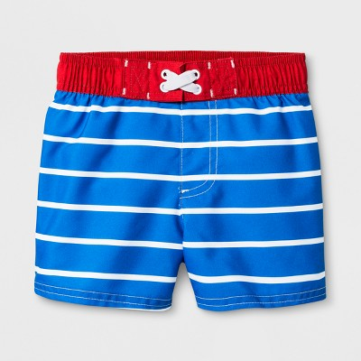Baby Boys' Stripe Swim Trunks - Cat & Jack™ Blue 18M