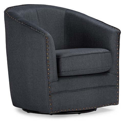 Fantastic Porter Modern And Contemporary Classic Retro Fabric Upholstered Swivel Tub Chair Gray Baxton Studio Cjindustries Chair Design For Home Cjindustriesco
