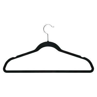 Honey-Can-Do Velvet Touch Suit Hanger - 50-Pack - Black
