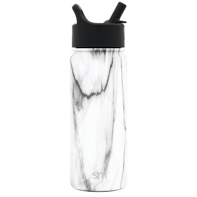 Simple Modern 18oz Summit Water Bottle Carrara Marble