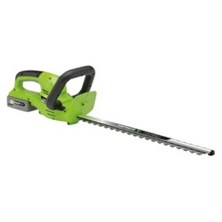 24 Volts, 60 Watts Cordless Lithium Hedge Trimmer - Green - Earthwise