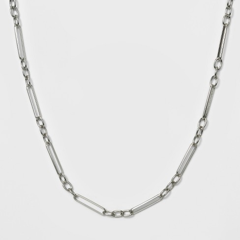 Short Link Necklace - A New Day™ Silver