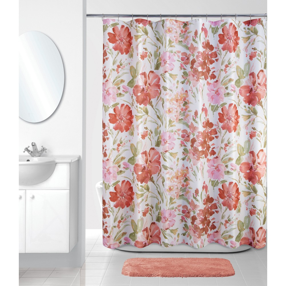 Image of Paint Pallet Floral Shower Curtain - Allure Home Creation, Multi-Colored