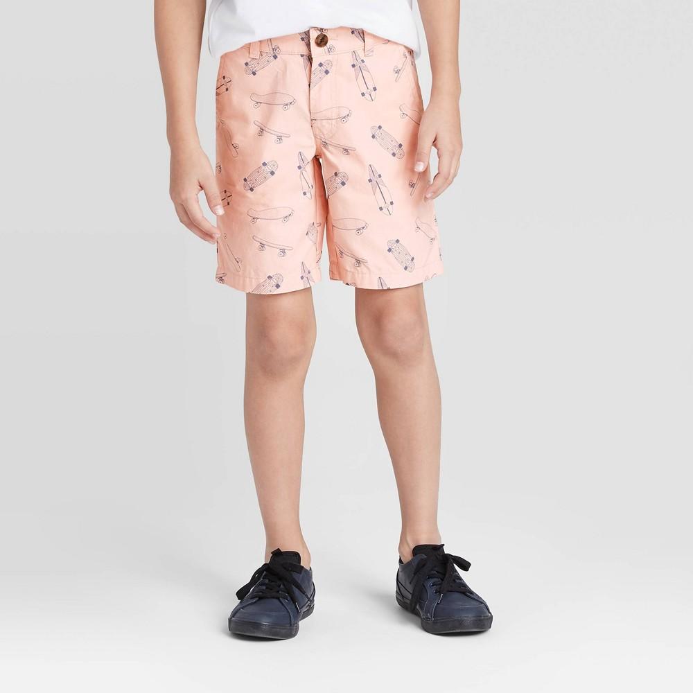 Boys 39 Stretch Flat Front Chino Shorts Cat 38 Jack 8482 Pink 14 Husky