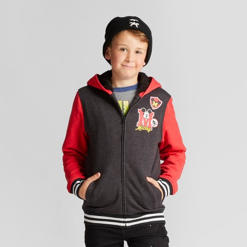 Boys' Mickey Mouse Sweatshirt - Charcoal/Red - image 1 of 3