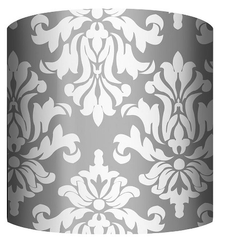 """PTM Images 10-0026 Damask 10"""" Tall x 12"""" Wide Cylinder Fabric Lamp Shade - image 1 of 1"""