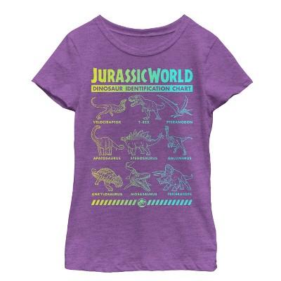 Girl's Jurassic World: Fallen Kingdom Dinosaur Identification Card T-Shirt