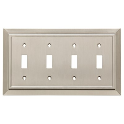 Franklin Brass Classic Architecture Quad Switch Wall Plate Nickel