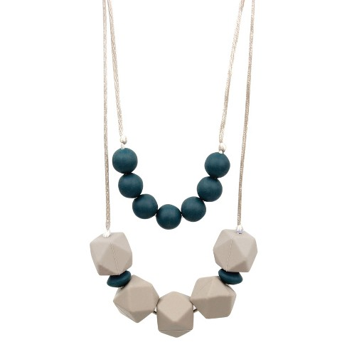 Bumkins Nixi Paloma Silicone Teether Necklace - Navy - image 1 of 4