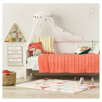 Tassel Bed Canopy One Size White   Pillowfort™ : Target