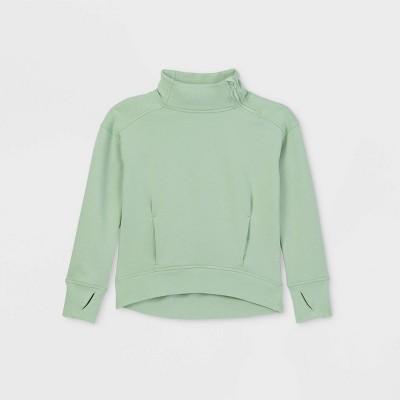 Girls' Cozy Funnel Neck Sweatshirt - All in Motion™
