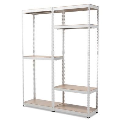 Charmant Gavin Metal 7   Shelf Closet Storage Racking Organizer   White   Baxton  Studio : Target