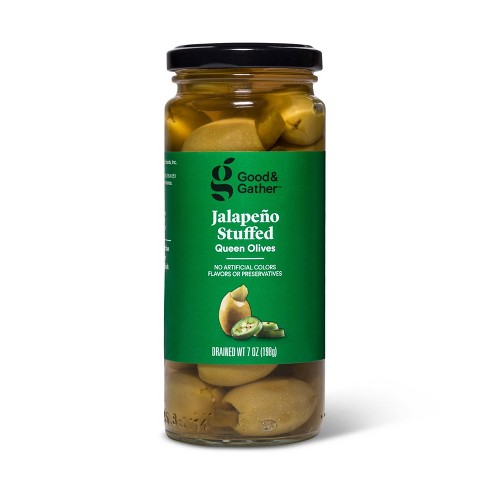 Jalapeno Stuffed Queen Olives - 7oz - Good & Gather™ - image 1 of 3