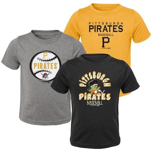 MLB Pittsburgh Pirates Toddler Boys' Gray T-Shirt 3pk - image 1 of 4