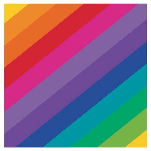 Rainbow Beverage Napkins 16 pk - image 1 of 2