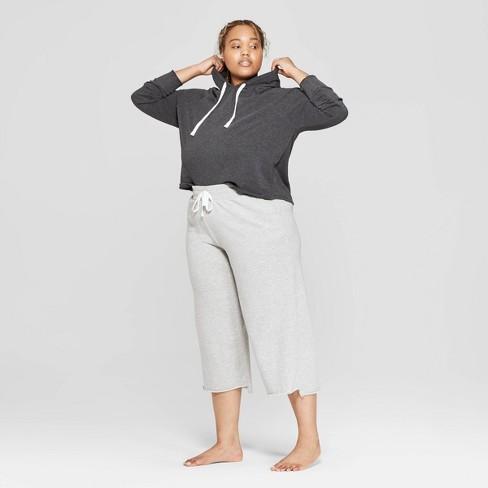 8dd2e2cc6e6 Women s Plus Size Fleece Hooded Lounge Cropped Sweatshirt - Colsie ...