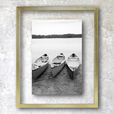 "8"" x 10"" Float Thin Metal Gallery Frame Brass - Project 62™"