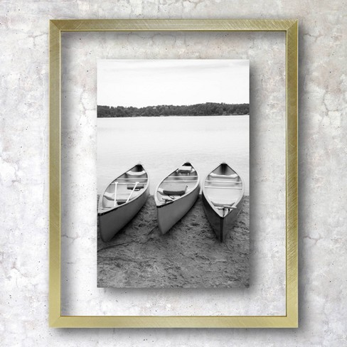 "8"" x 10"" Float Thin Metal Gallery Frame Brass - Project 62™ - image 1 of 3"