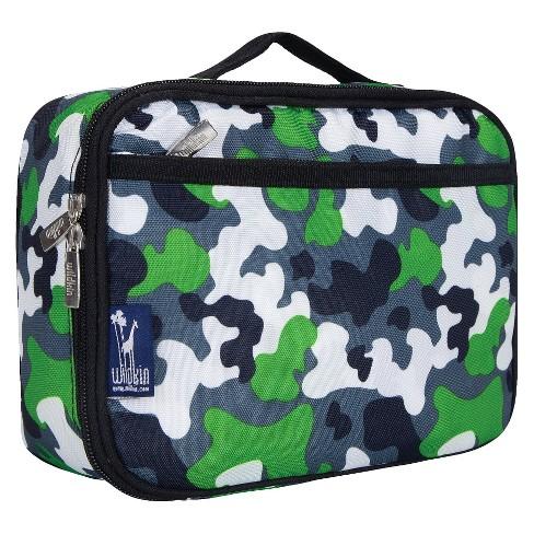 wildkin camouflage lunch box green target
