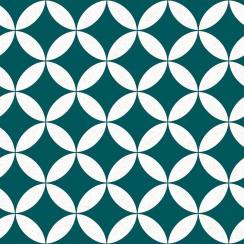 Terrazzo Star Self-Adhesive Removable Wallpaper Teal - Tempaper - image 1 of 2