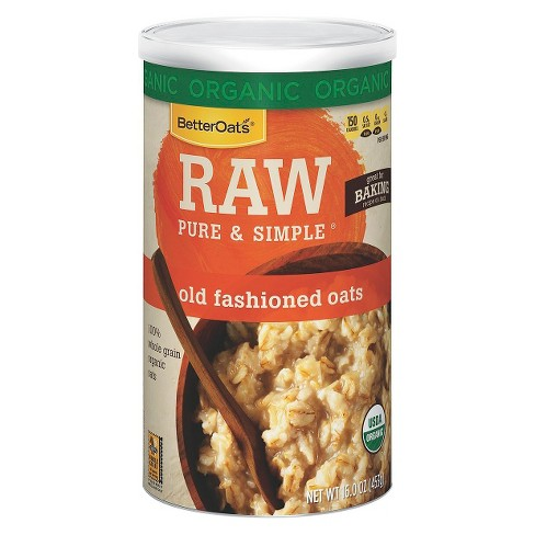 Better Oats® Raw Pure & Simple® Organic Old Fashioned Oats 16 oz - image 1 of 1