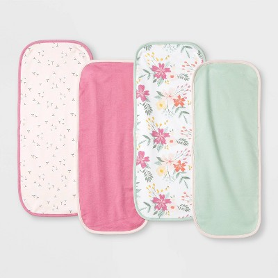 Baby Girls' 4pk Meadow Burp Cloth - Cloud Island™ White
