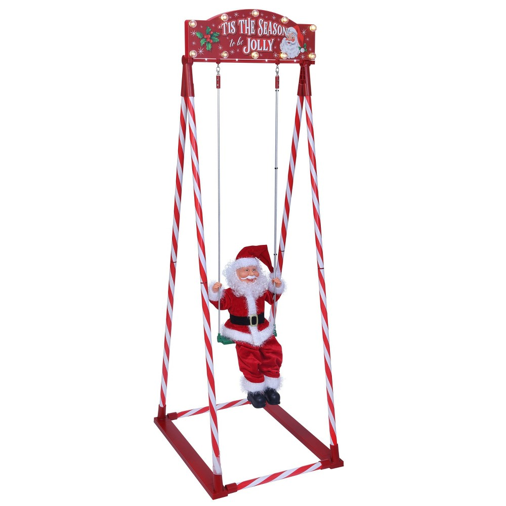 Image of Swinging Santa Decorative Figurine - Mr. Christmas
