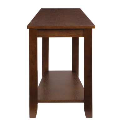 Homelegance Elwell Collection Wood Modern Living Room Corner Side Stand Wedged Chairside End Table Table for Living Room, Espresso