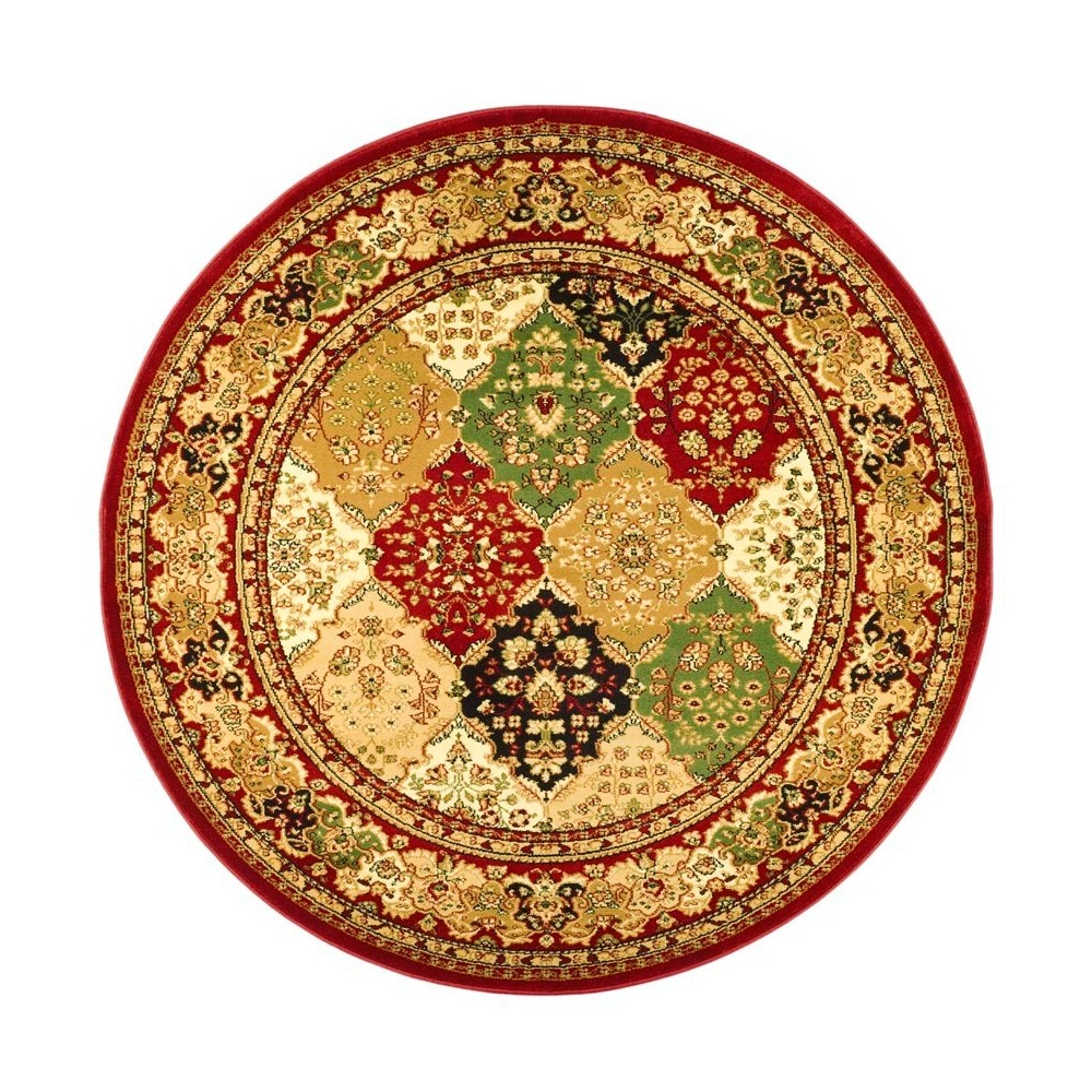 Floral Loomed Round Area Rug 5'3 - Safavieh, Red
