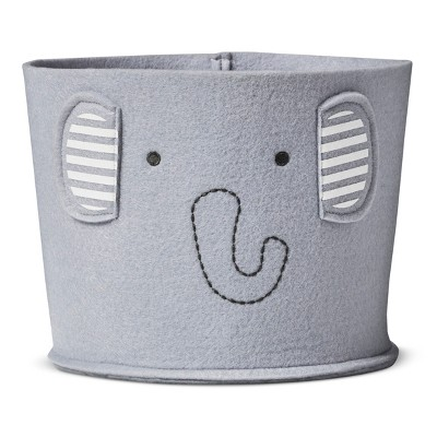 Felt Storage Bin Small Elephant - Cloud Island™ - Gray