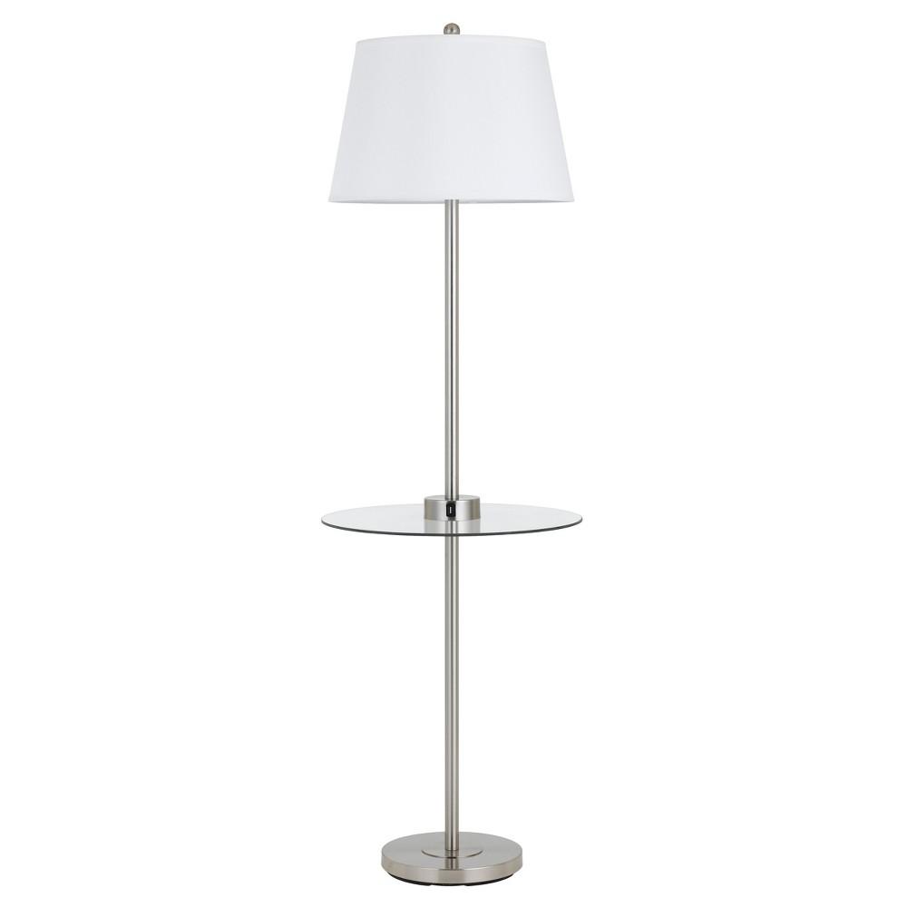 CAL Lighting Way Woodbury Metal Floor Lamp With Glass Tra...
