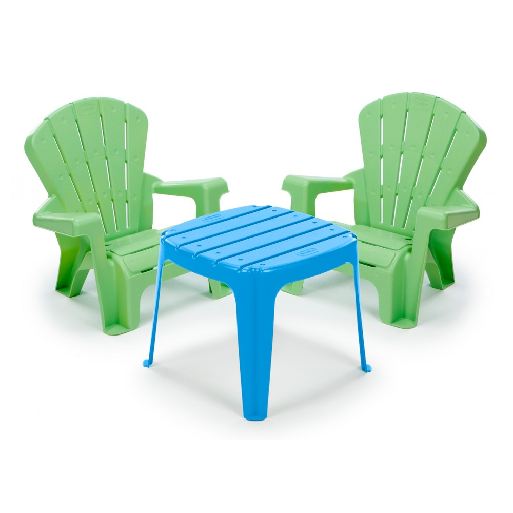Little Tikes Garden Table & Chairs Set - Blue/Green, Multi-Colored