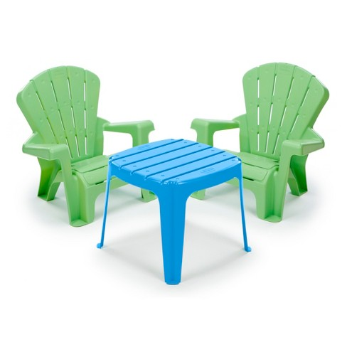Little Tikes Garden Table & Chairs Set - Blue/Green - image 1 of 1