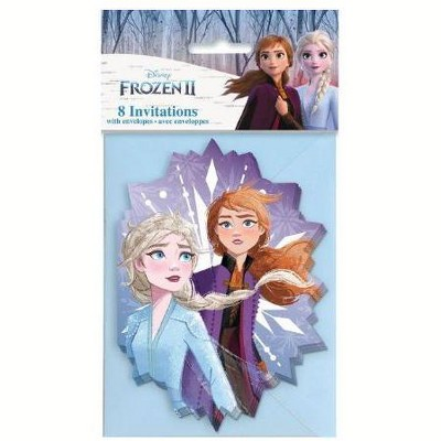Birthday Express Frozen Party Frozen 2 Invitations - 8 Pack