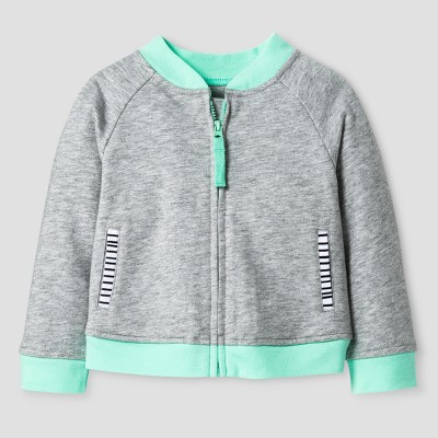 Oh Joy!® Baby Striped Accent Layering Jacket - Gray 3-6M