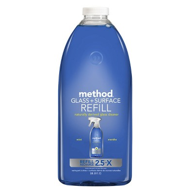 Method Cleaning Products Glass + Surface Cleaner Refill Mint - 68 fl oz