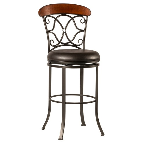 """26"""" Dundee Swivel Counter Stool Coffee Brown - Hillsdale Furniture - image 1 of 6"""