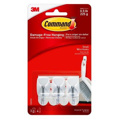 3M Command Metal/Plastic Utensil Hooks, White, 3 ct.