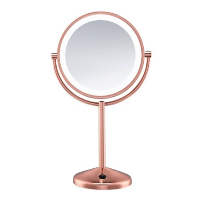 Conair LED Makeup Mirror - 1x & 10x Magnification - Rose gold