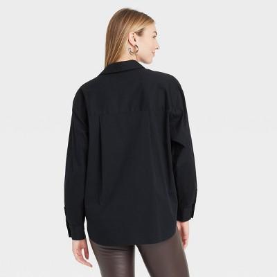 Womens Black Collared Shirt : Target