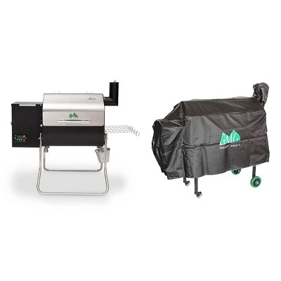 Green Mountain Davy Crockett Wifi Portable Wood Pellet Electric Grill with Cover